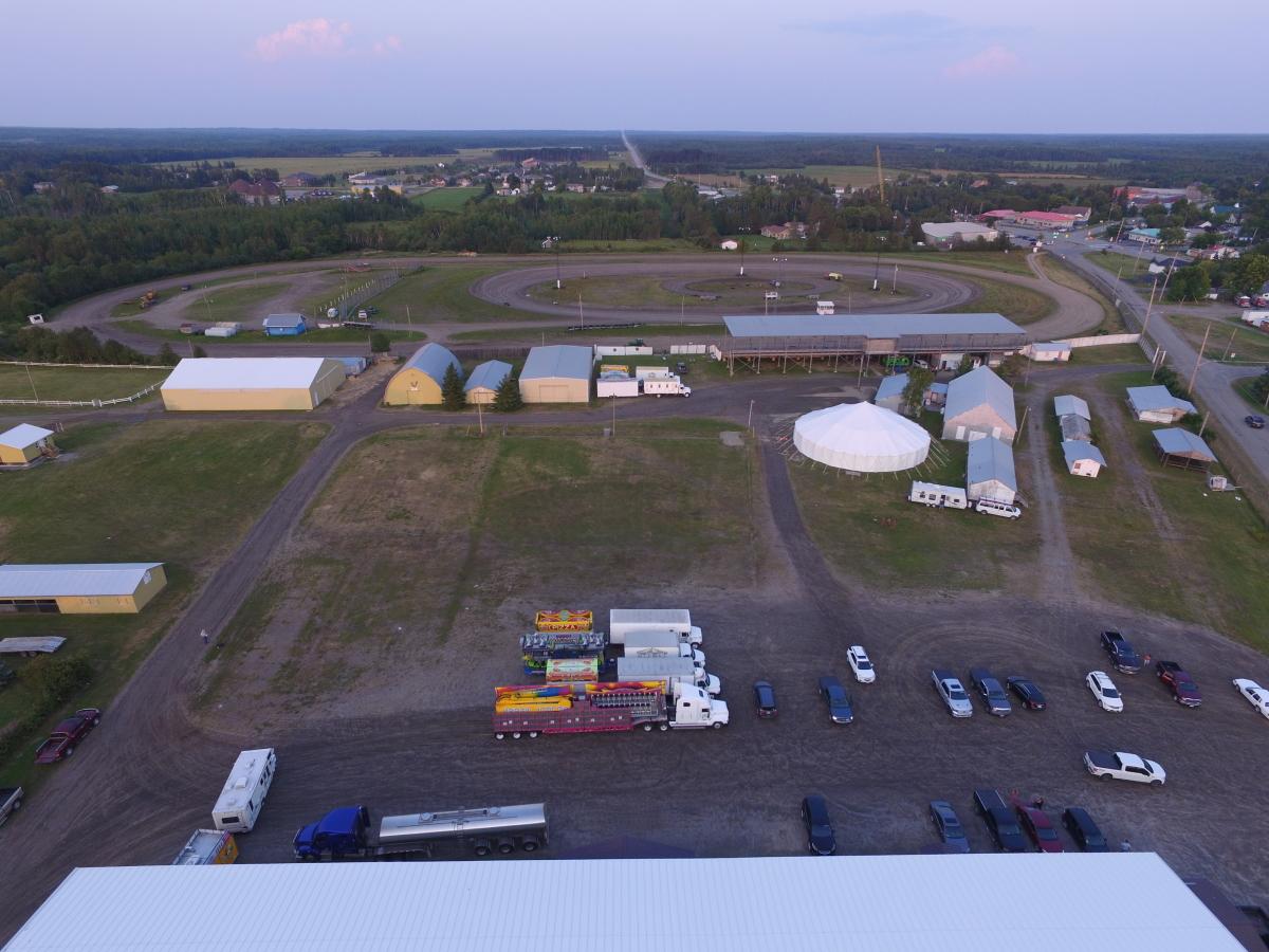 aerial fair shot