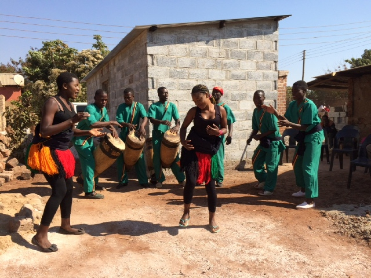 dancing villagers