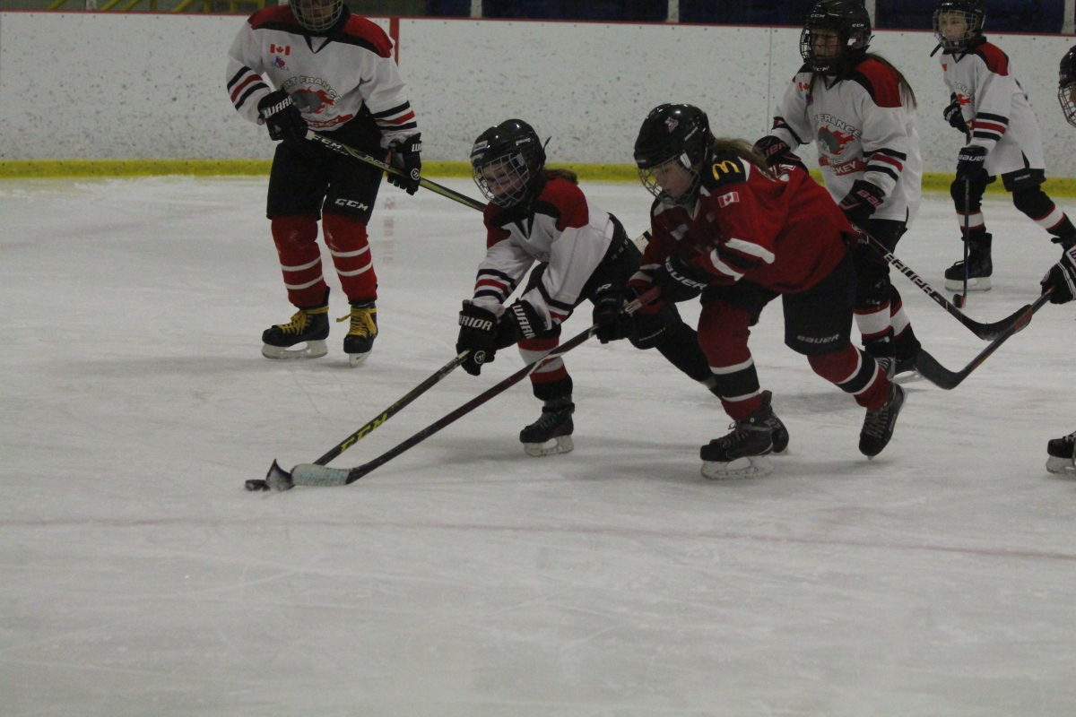 reaching for puck