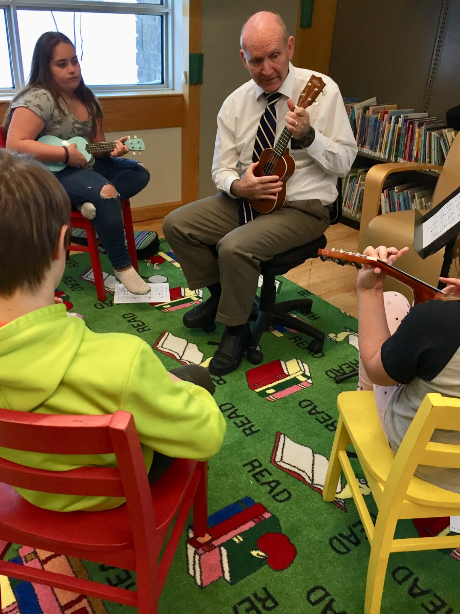 teaching ukulele