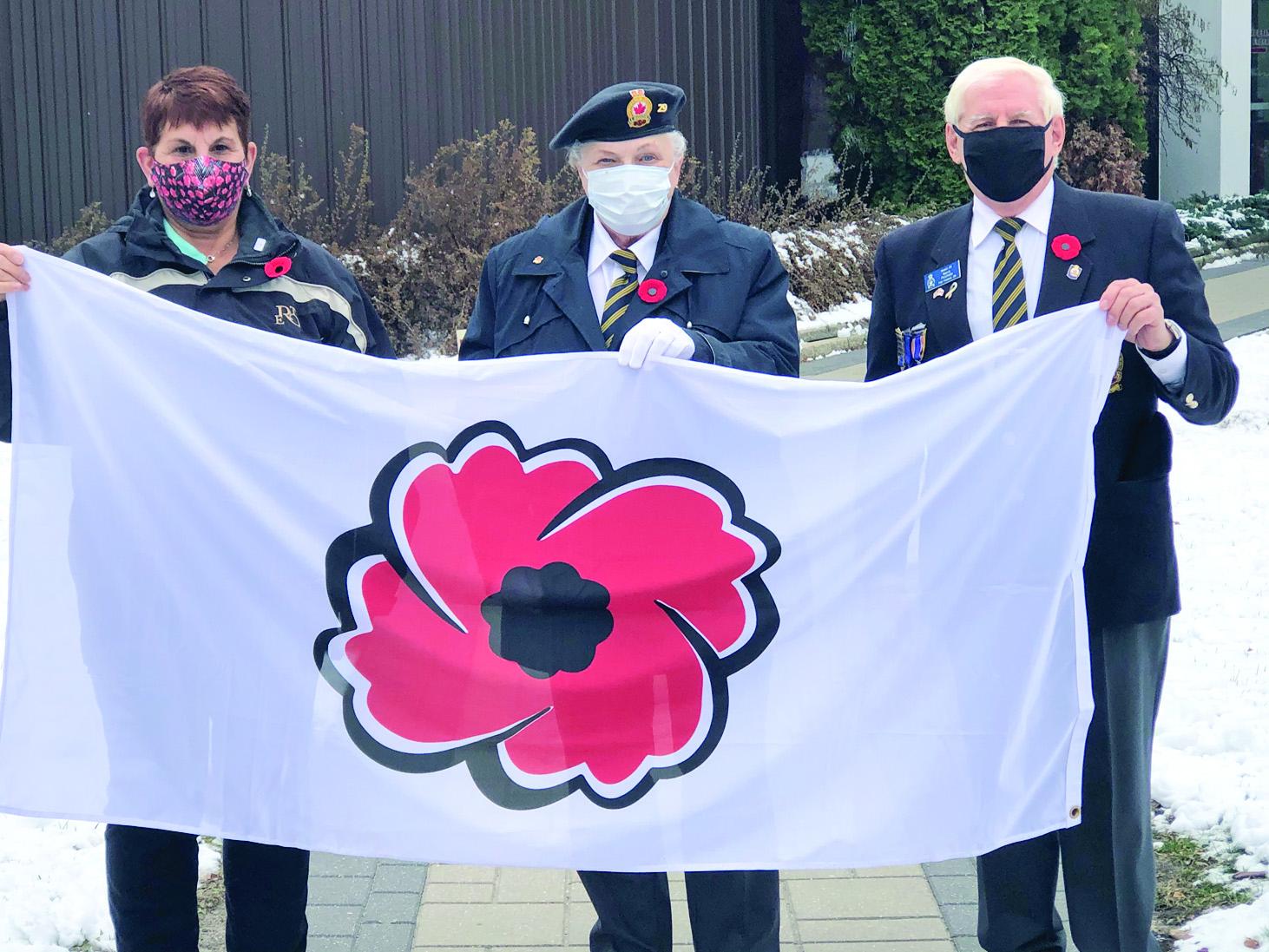 poppy flag raising