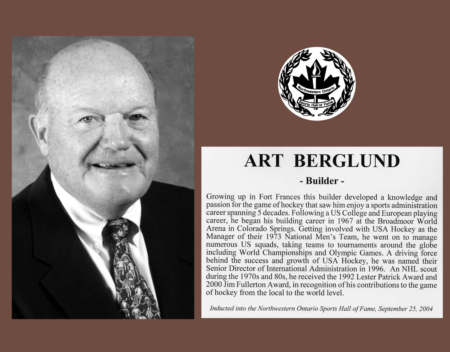 Legendary Art Berglund helped to shape hockey