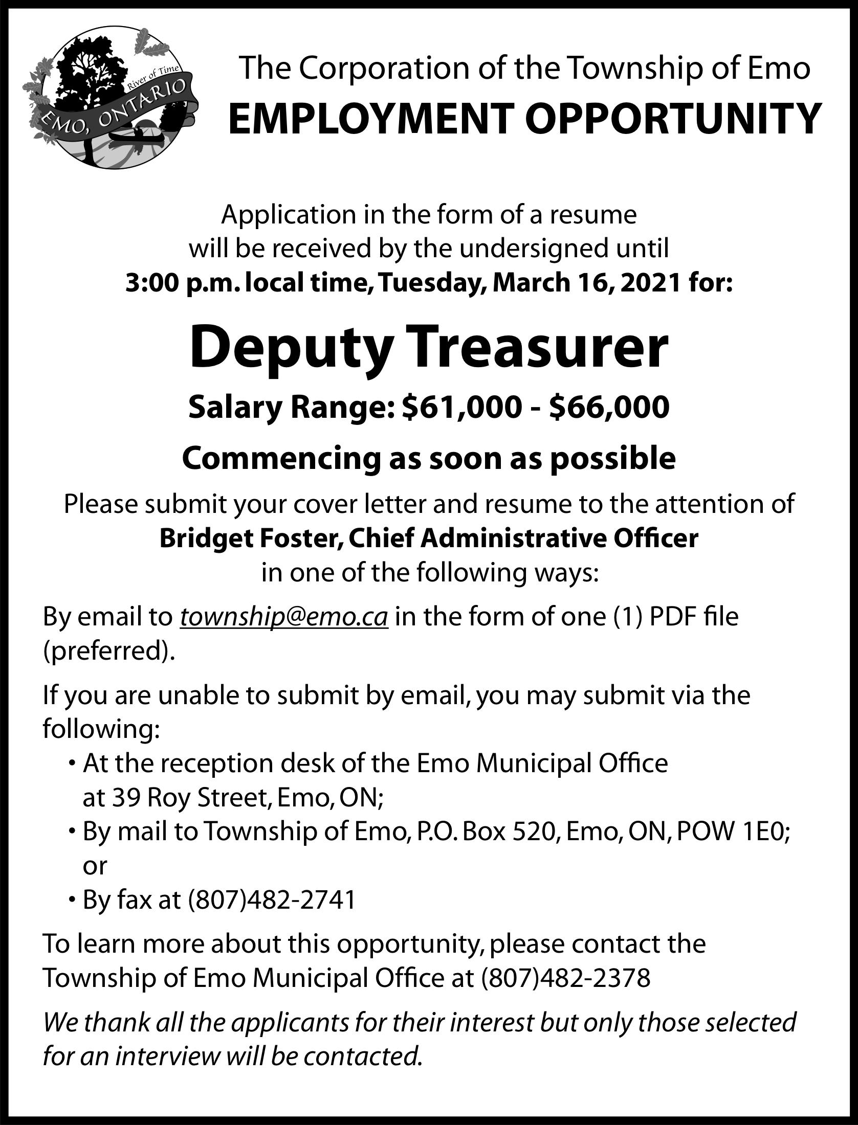 Deputy Treasurer