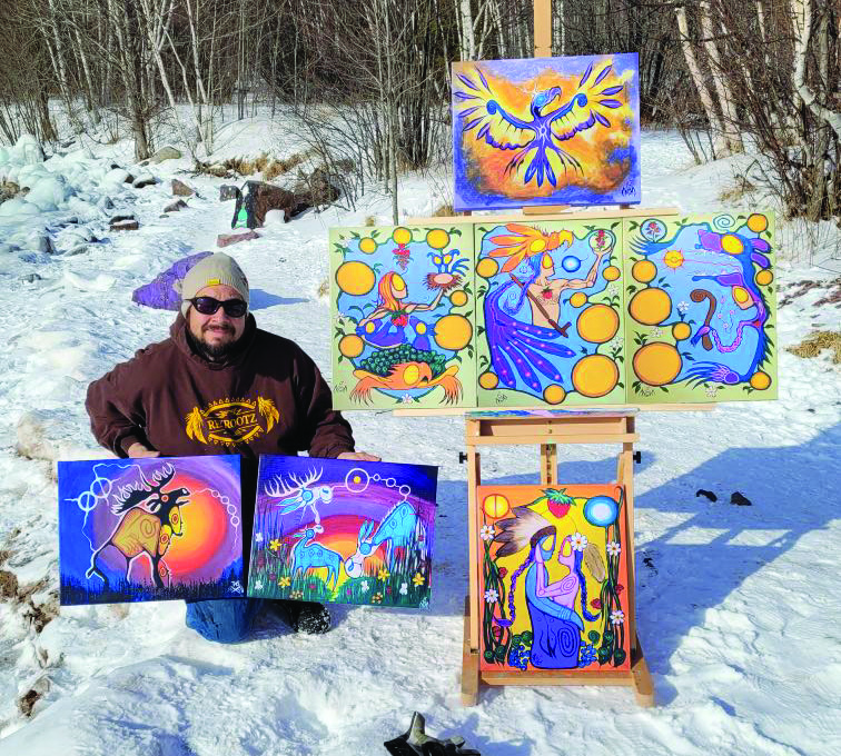 Local Couchiching artist signs to art gallery in the U.K.