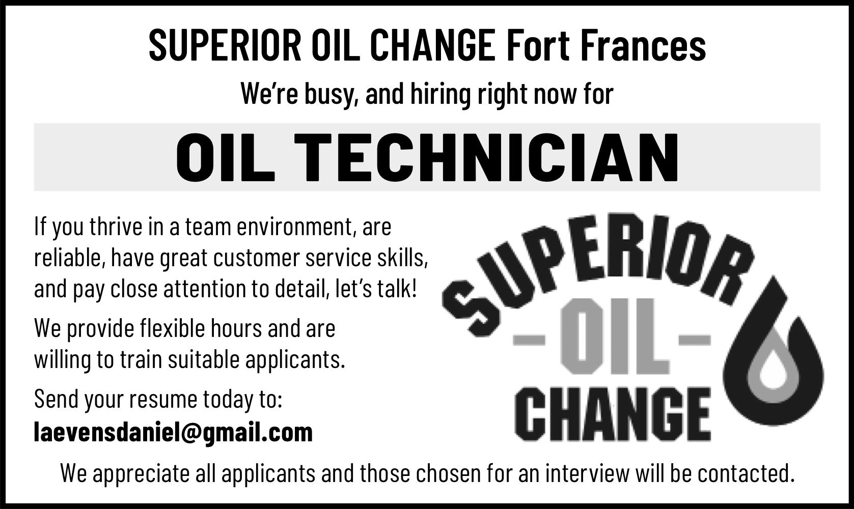 Oil Technician