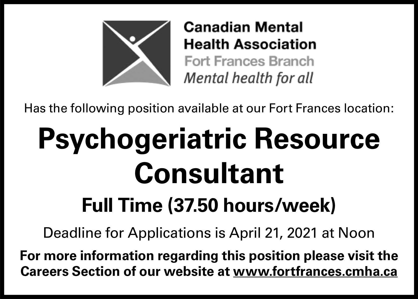 Psychogeriatric Resource Consultant