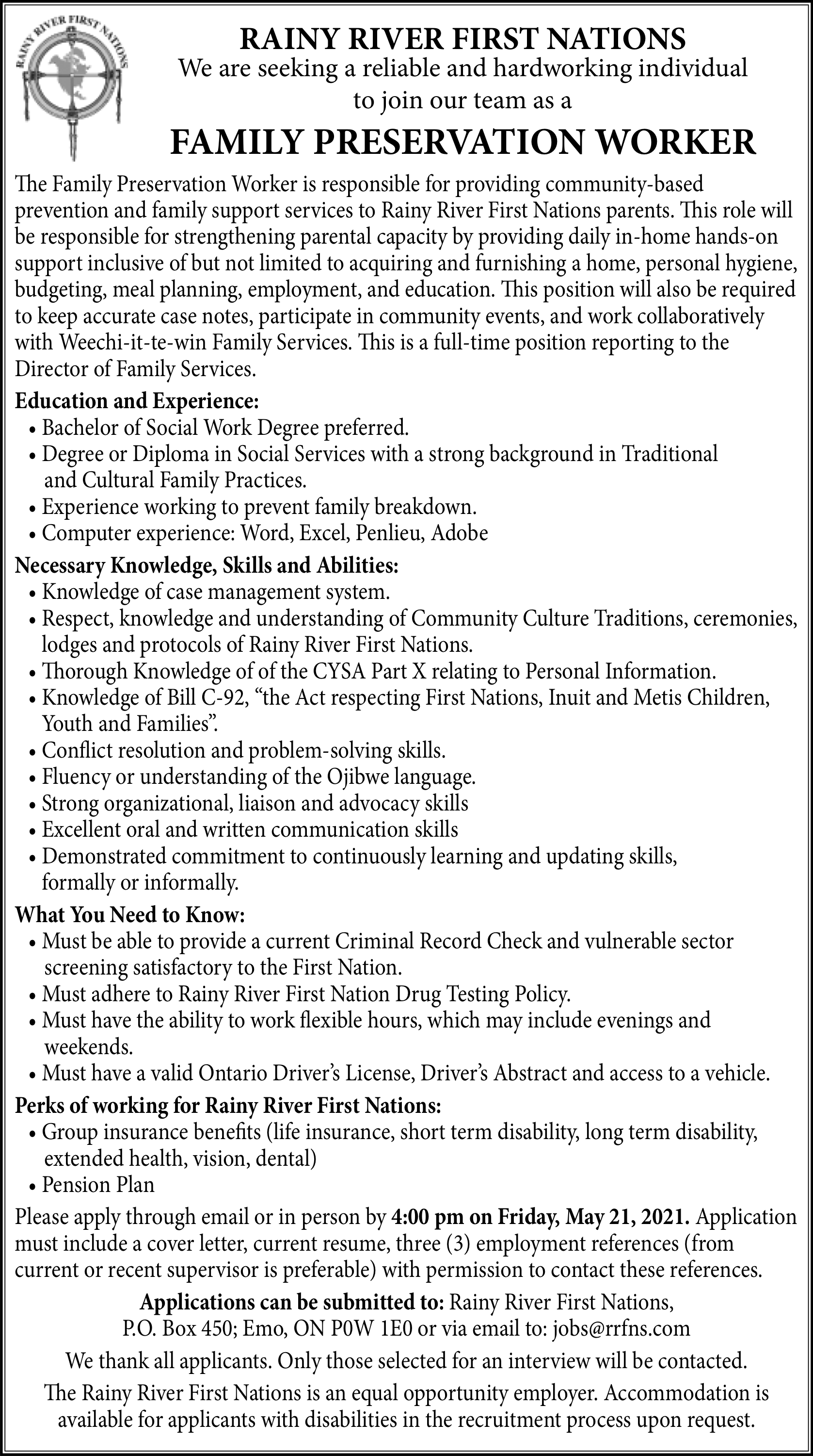 Family Preservation Worker
