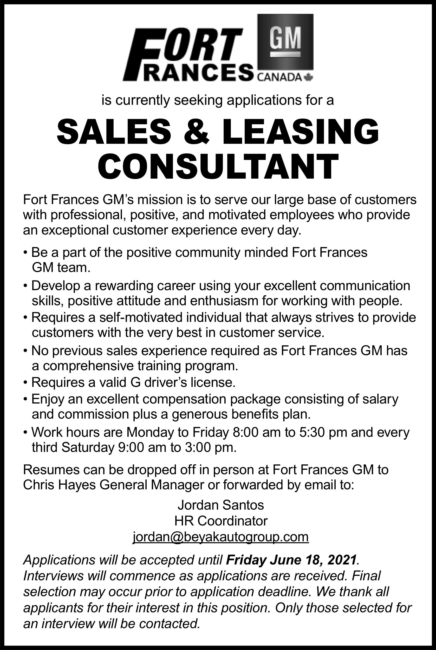 Sales & Leasing Consultant