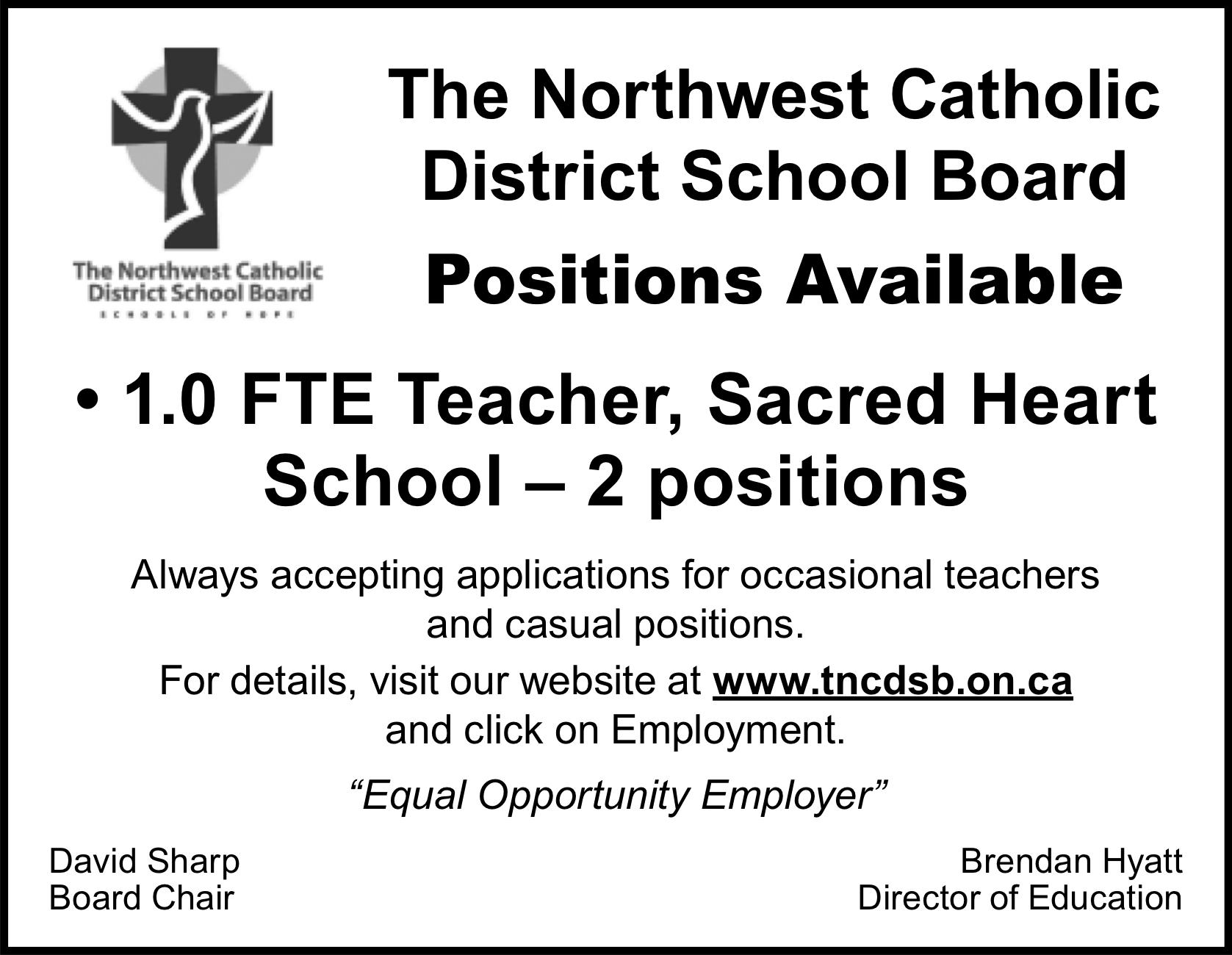 Teacher, Sacred Heart School