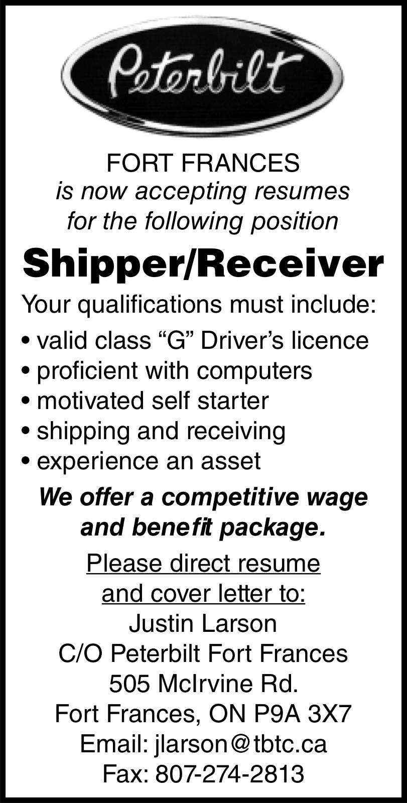 Shipper/Receiver