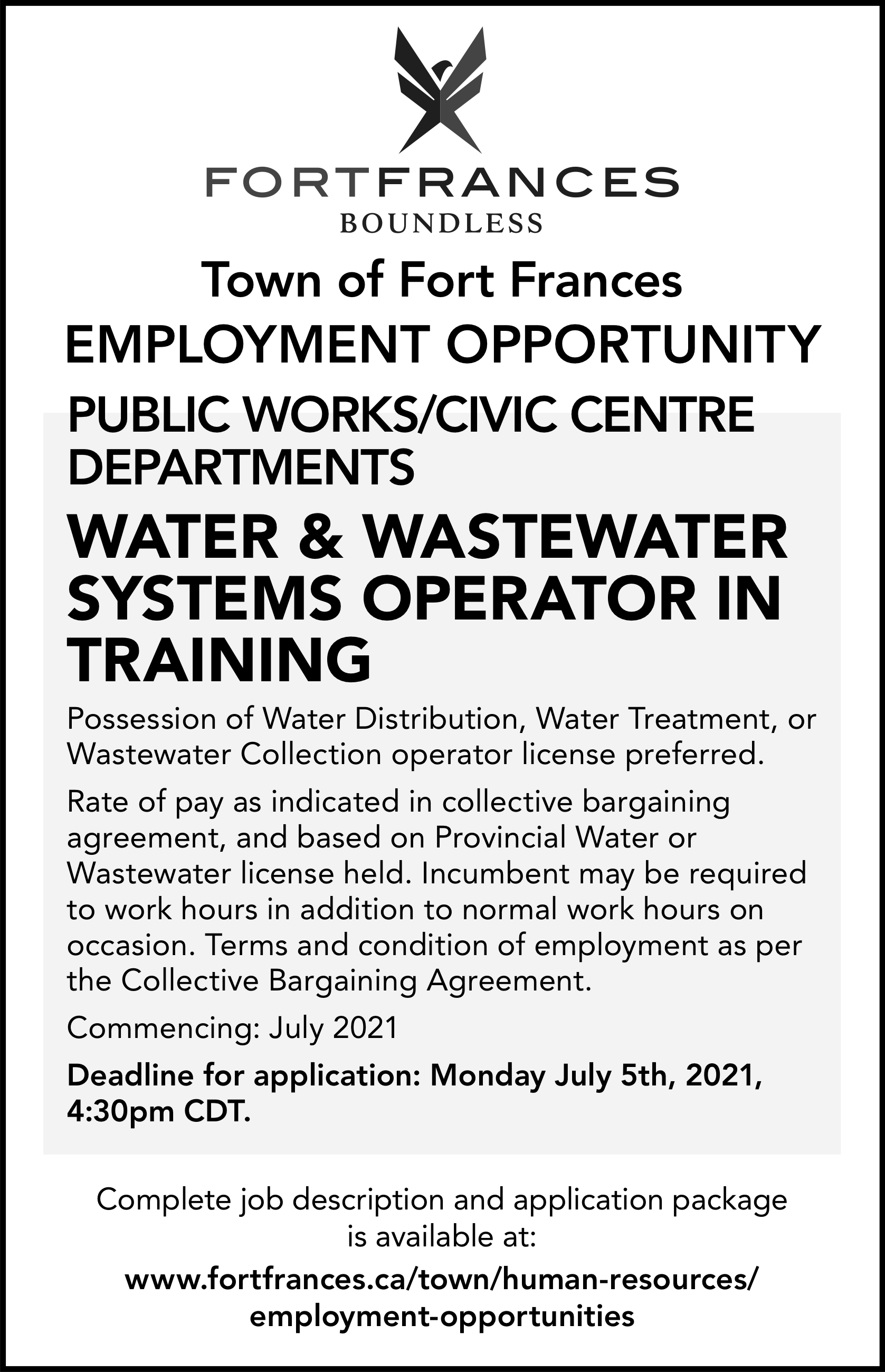 Water & Wastewater systems Operator in Training
