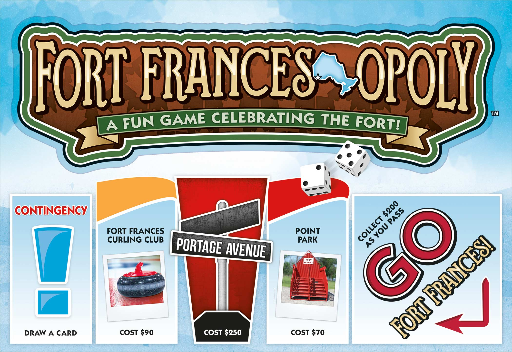 Local Fort Frances-opoly game swaps Park Place for Sorting Gap Marina
