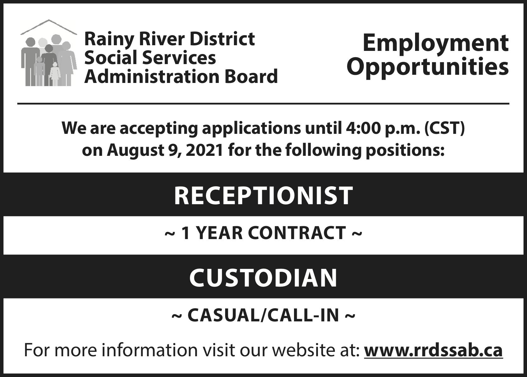 RRDSSAB Employment Opportunities