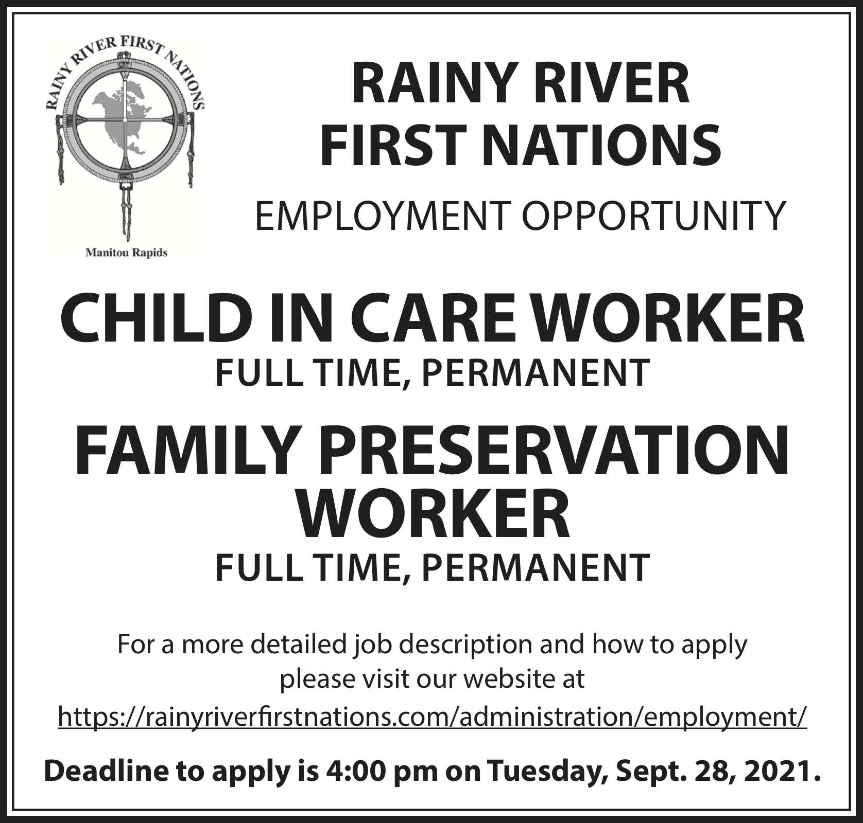 Child In Care Worker, Family Preservation Worker