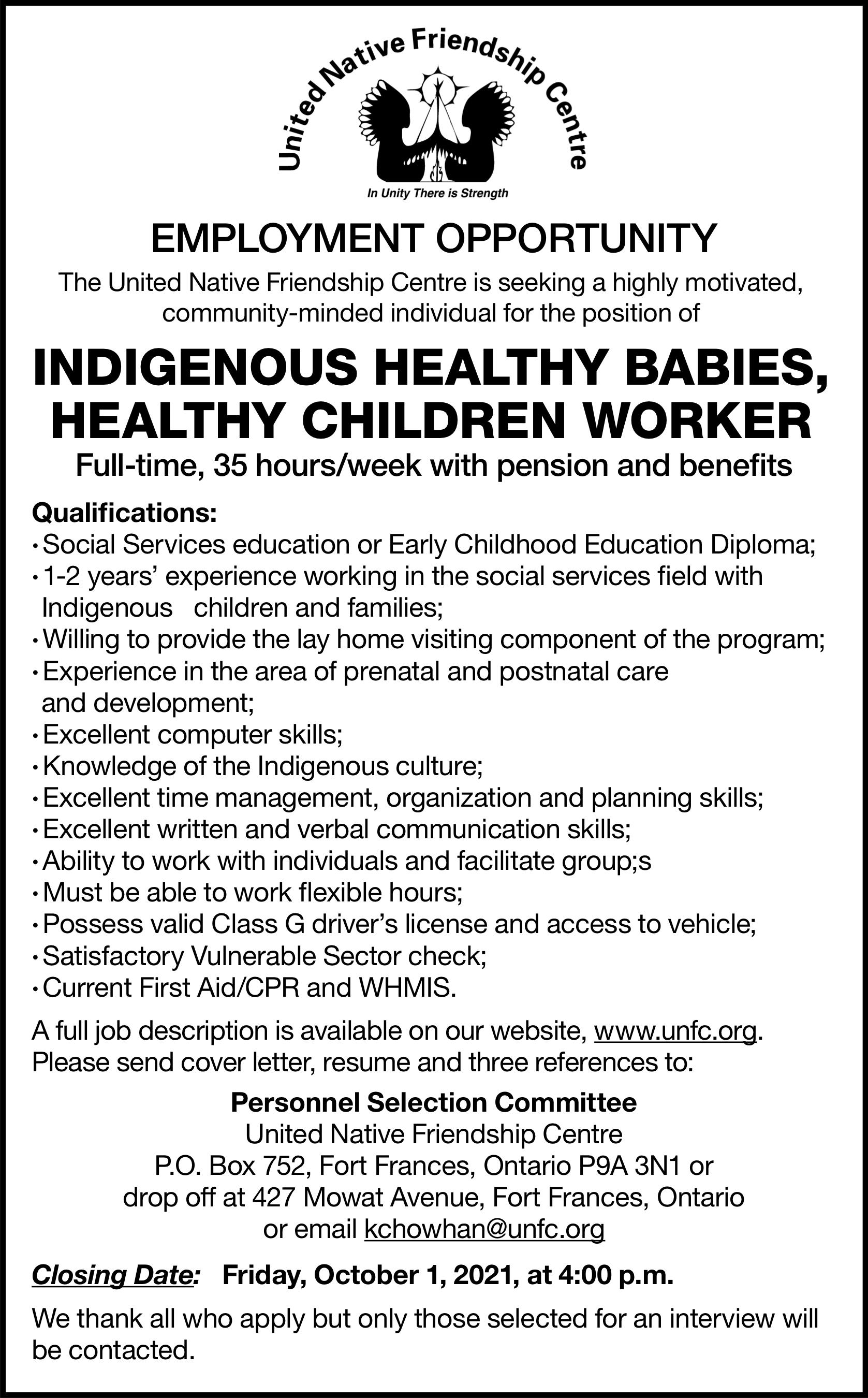 Indigenous Healthy Babies, Healthy Children Worker
