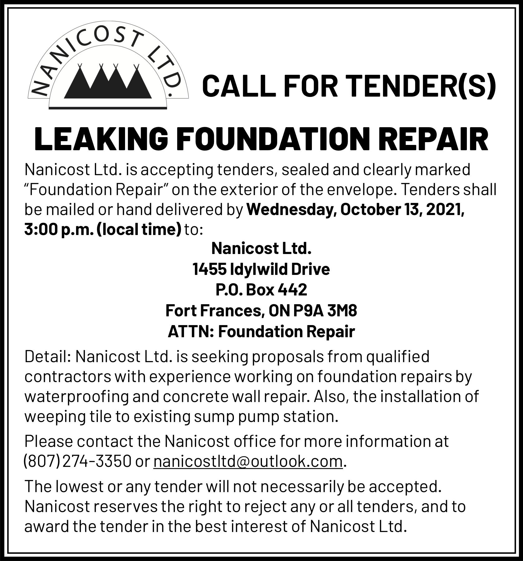 Leaking Foundation Repair