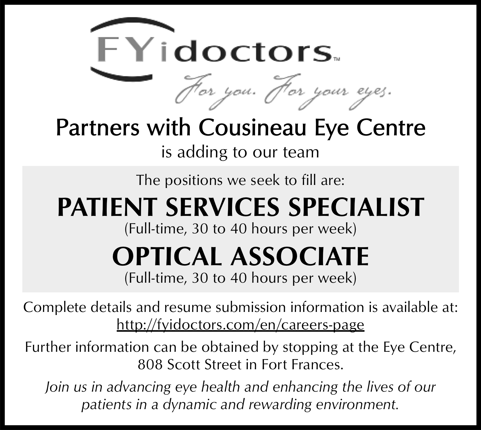 Patient Services Specialist, Optical Associate